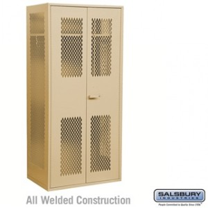 Military TA-50 Storage Cabinet - 78 Inches High - 24 Inches Deep - Tan