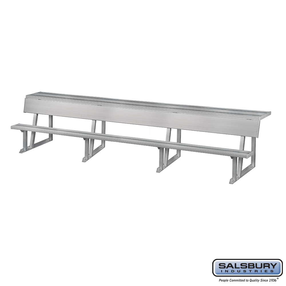 Team Bench w/ Storage Shelf - 21 Feet Length
