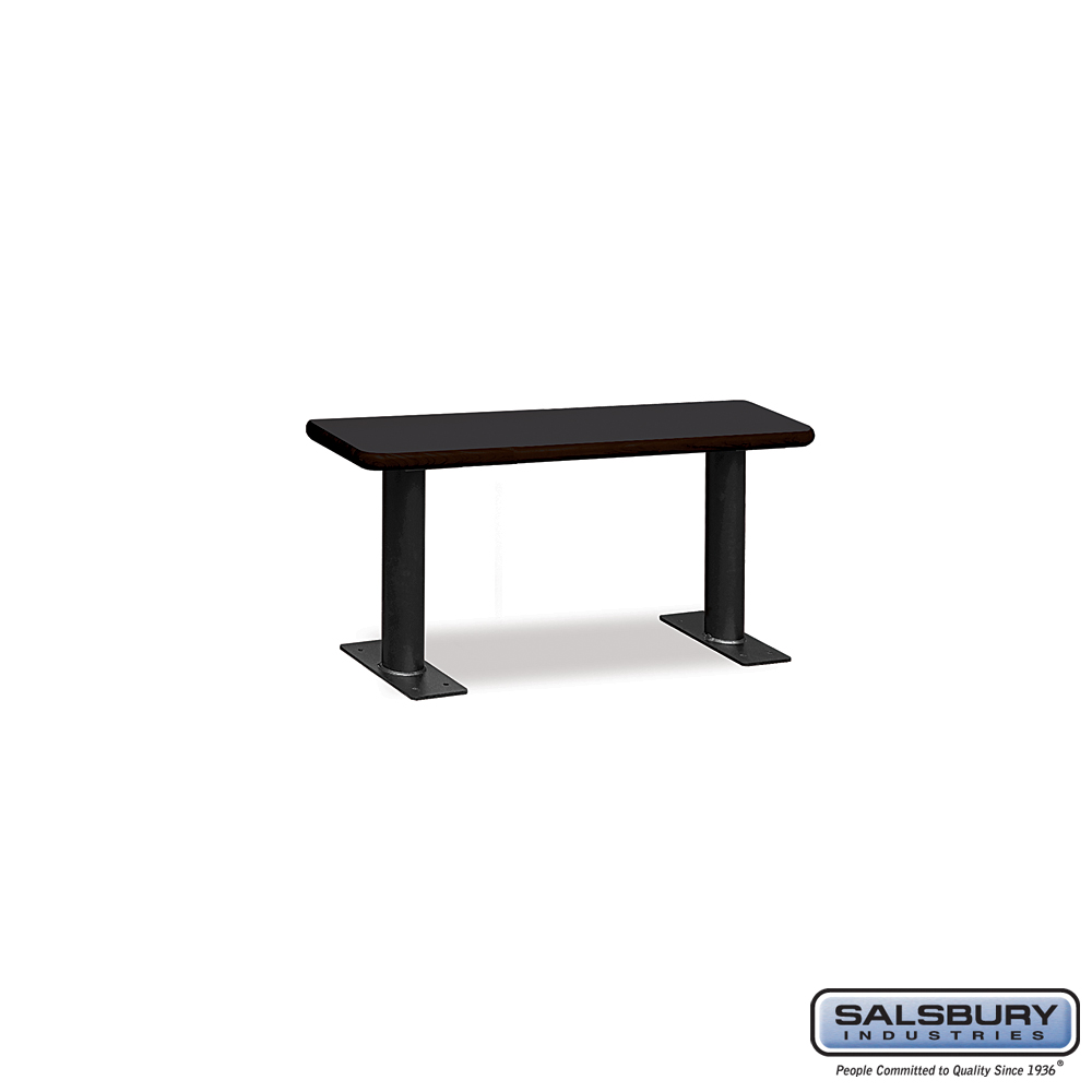 Designer Wood Locker Benches - 36 Inches Wide - Black