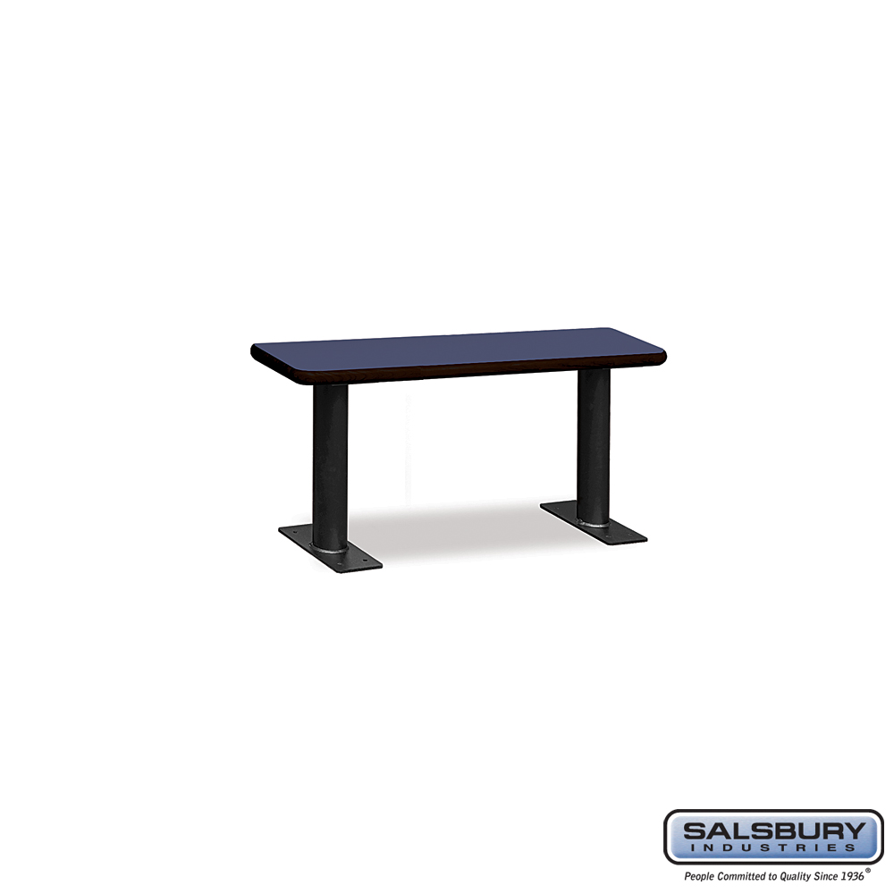 Designer Wood Locker Benches - 36 Inches Wide - Blue