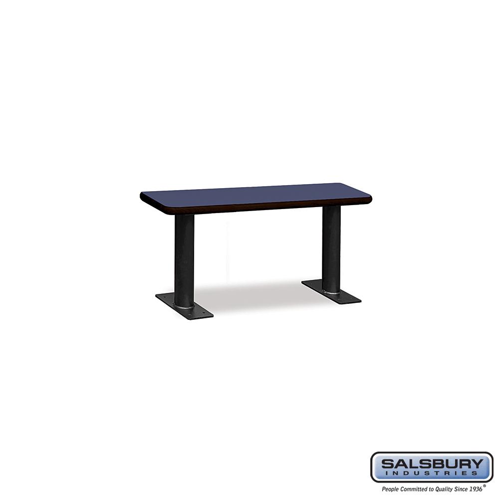 Designer Wood Locker Benches - 36 Inches Wide - Blue