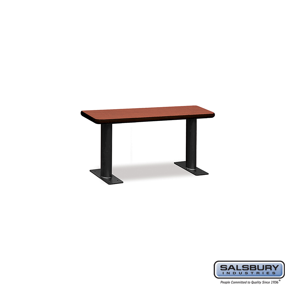 Designer Wood Locker Benches - 36 Inches Wide - Cherry