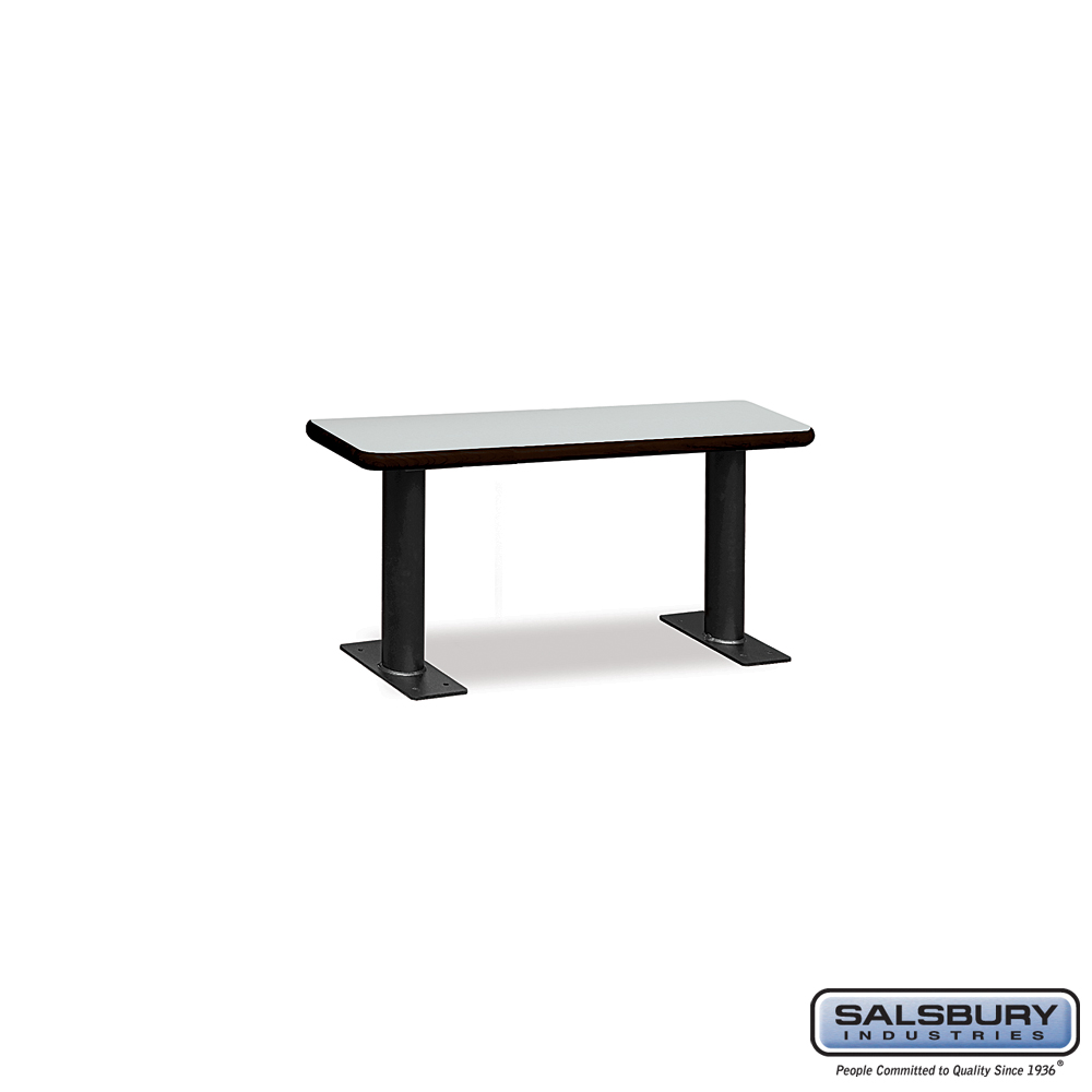 Designer Wood Locker Benches - 36 Inches Wide - Gray