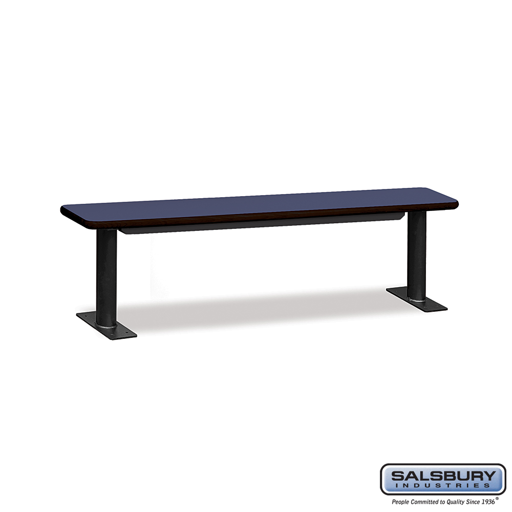 Designer Wood Locker Benches - 72 Inches Wide - Blue