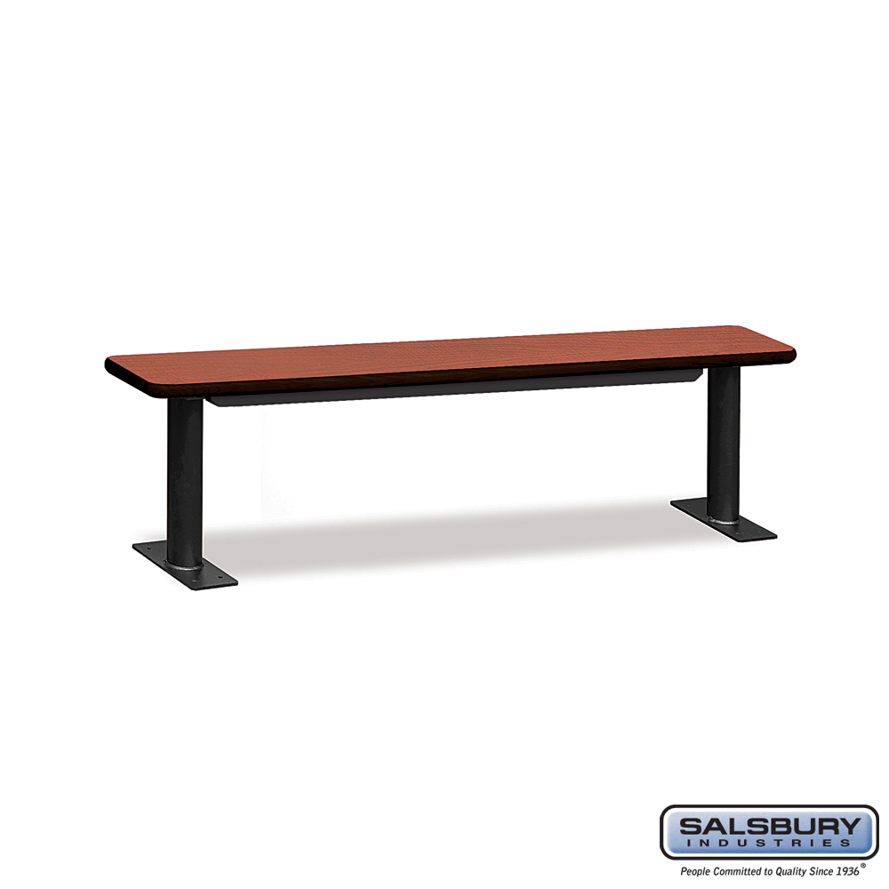 Designer Wood Locker Benches - 72 Inches Wide - Cherry