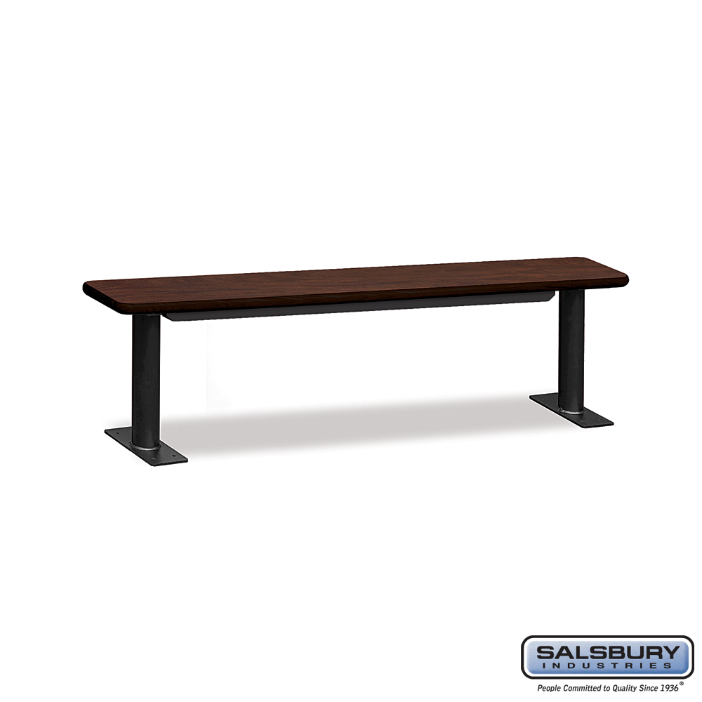 Designer Wood Locker Benches - 72 Inches Wide - Mahogany