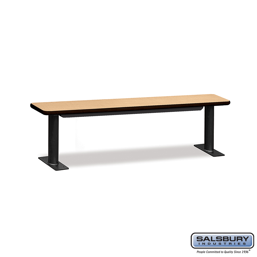 Designer Wood Locker Benches - 72 Inches Wide - Maple