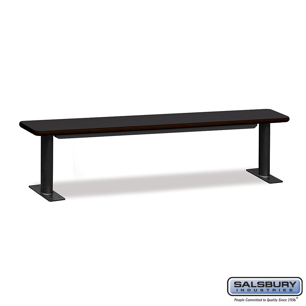 Designer Wood Locker Benches - 84 Inches Wide - Black