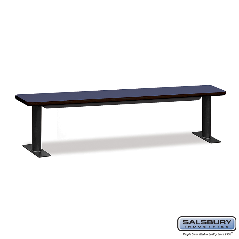 Designer Wood Locker Benches - 84 Inches Wide - Blue