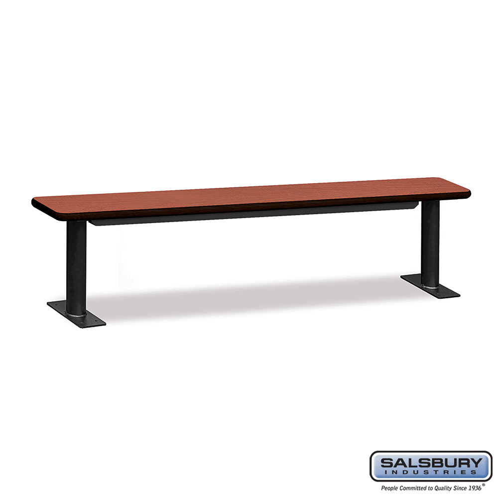 Designer Wood Locker Benches - 84 Inches Wide - Cherry
