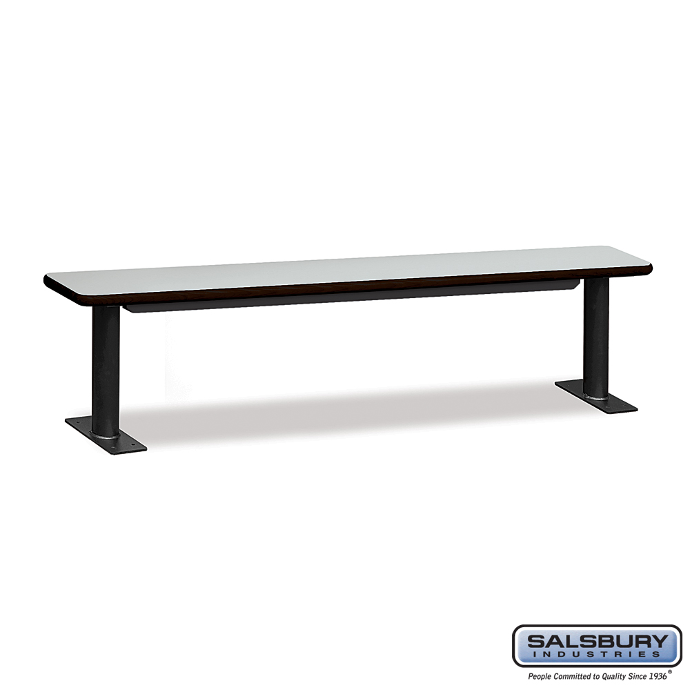 Designer Wood Locker Benches - 84 Inches Wide - Gray