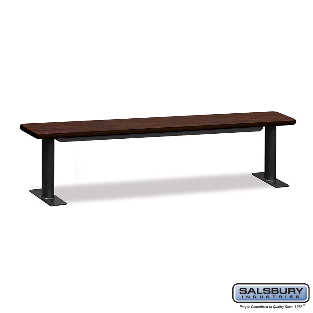 Designer Wood Locker Benches - 84 Inches Wide - Mahogany