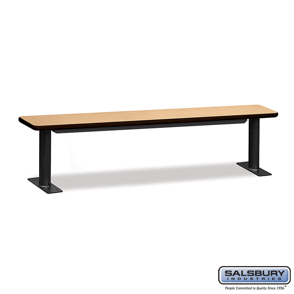 Designer Wood Locker Benches - 84 Inches Wide - Maple