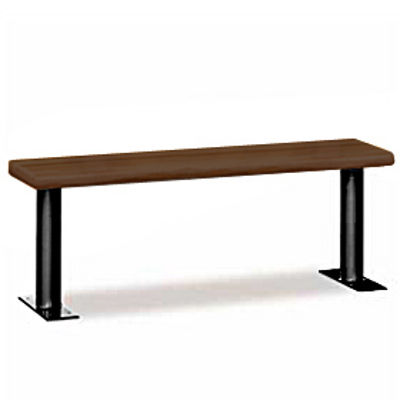 Wood Locker Benches - 84 Inches - Dark Finish