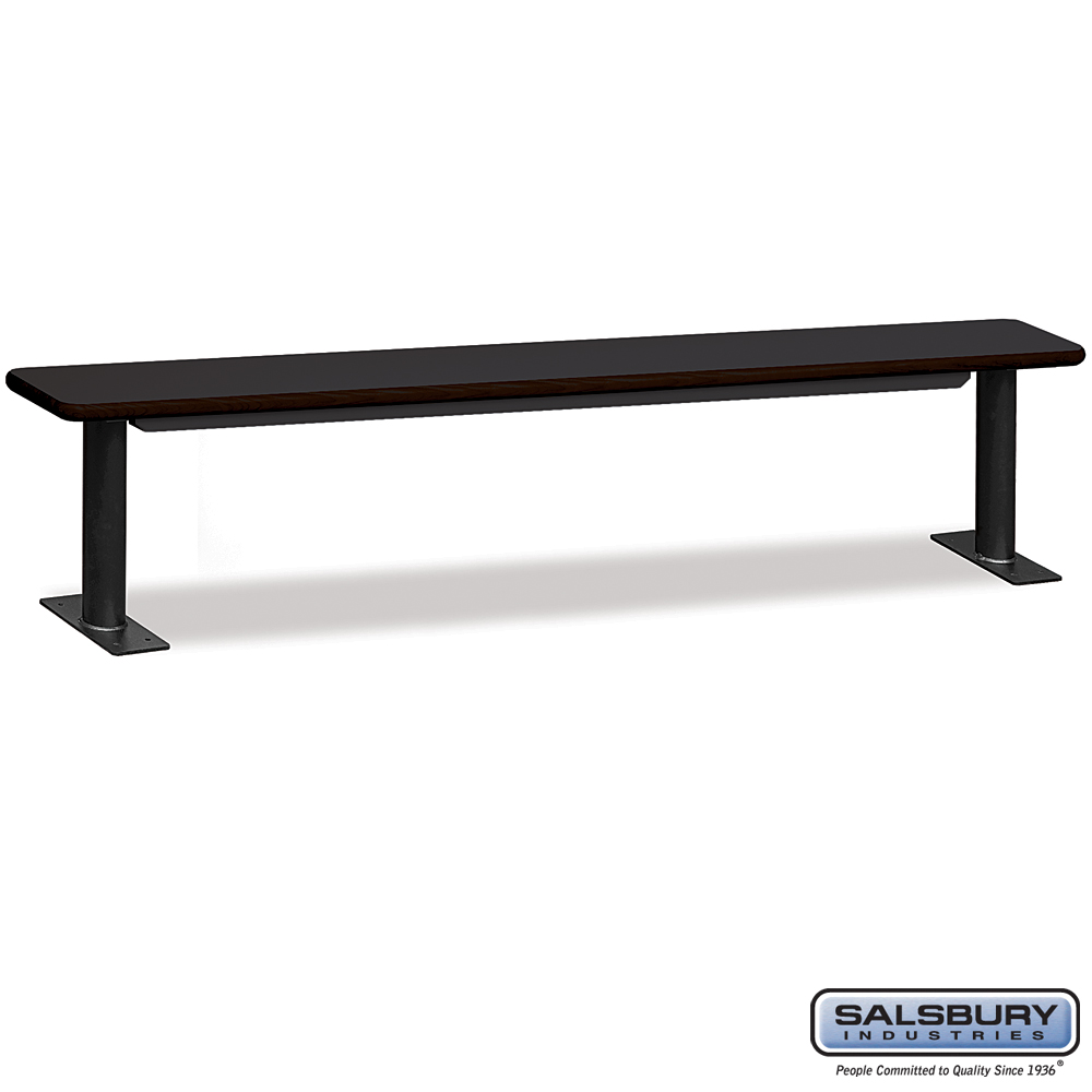 Designer Wood Locker Benches - 96 Inches Wide - Black