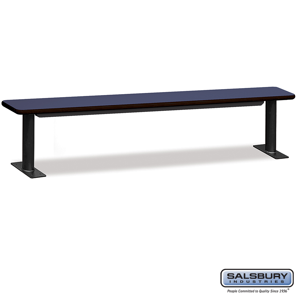 Designer Wood Locker Benches - 96 Inches Wide - Blue