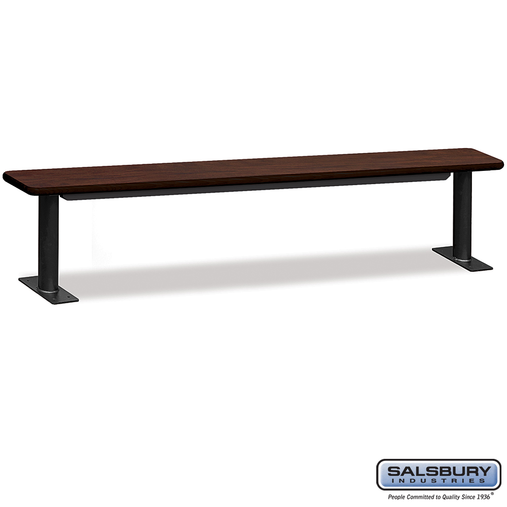 Designer Wood Locker Benches - 96 Inches Wide - Mahogany