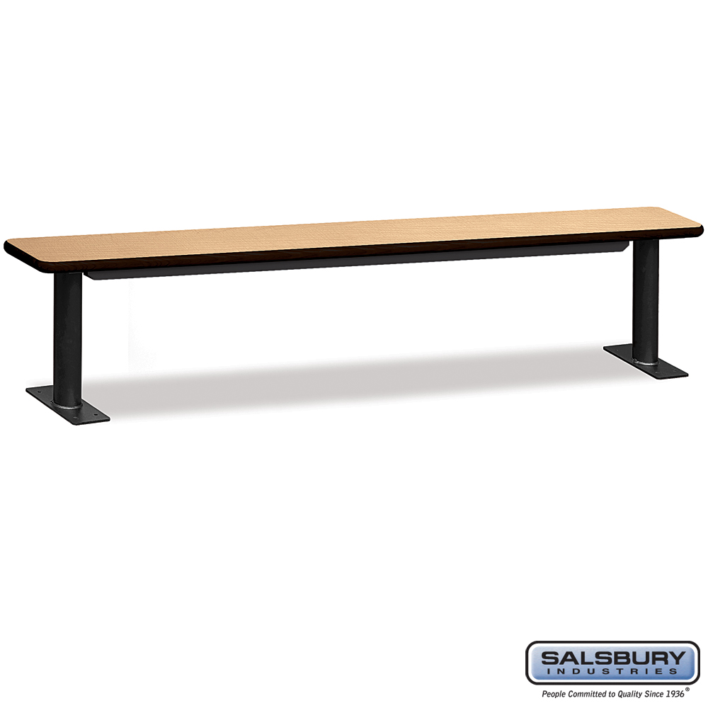 Designer Wood Locker Benches - 96 Inches Wide - Maple