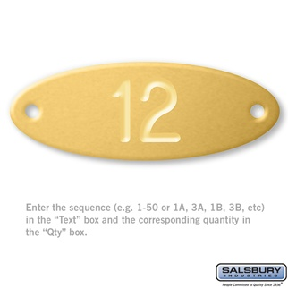 Custom Engraved Name/Number Plate - for Solid Oak Executive Wood Locker Door