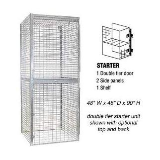 Bulk Storage Locker - Double Tier - Starter - 48 Inches Wide - 48 Inches Deep