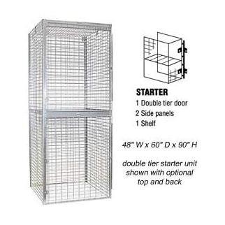 Bulk Storage Locker - Double Tier - Starter - 48 Inches Wide - 60 Inches Deep