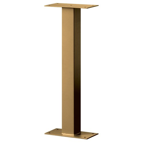 Standard Pedestal - Bolt Mounted - for Designer Roadside Mailbox - Brass