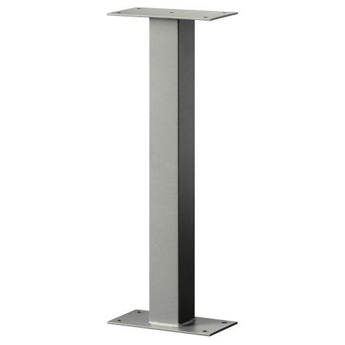 Standard Pedestal - Bolt Mounted - for Designer Roadside Mailbox - Nickel