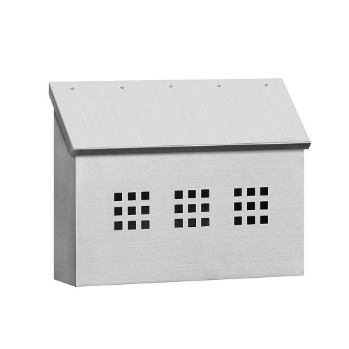 Stainless Steel Mailbox - Decorative - Horizontal Style