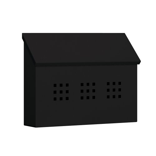 Traditional Mailbox - Decorative - Horizontal Style - Black