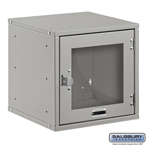 Salsbury Industries Modular Locker - Window Door - 12 Inch Cube - Gray - Assembled at Sears.com