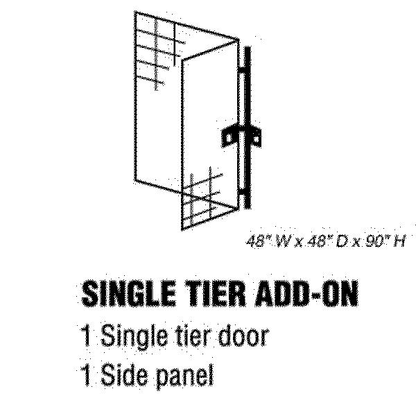 Bulk Storage Locker - Single Tier - Add On - 48 Inches Wide - 48 Inches Deep