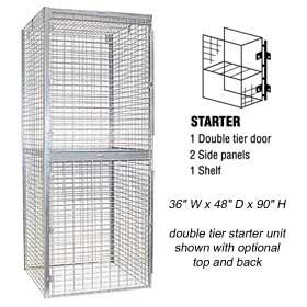 Bulk Storage Locker - Double Tier - Starter - 36 Inches Wide - 48 Inches Deep