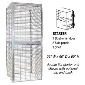 Bulk Storage Locker - Double Tier - Starter - 36 Inches Wide - 60 Inches Deep