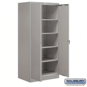 Storage Cabinet - Standard - 78 Inches High - 24 Inches Deep - Gray - Assembled