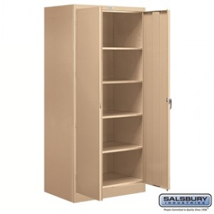 Storage Cabinet - Standard - 78 Inches High - 24 Inches Deep - Tan - Unassembled