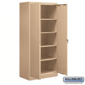 Storage Cabinet - Standard - 78 Inches High - 18 Inches Deep - Tan - Unassembled