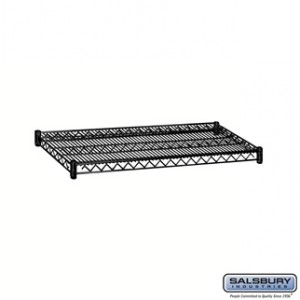 Additional Shelf - for Wire Shelving - 36 Inches Wide - 18 Inches Deep - Black
