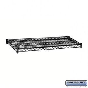 Additional Shelf - for Wire Shelving - 48 Inches Wide - 18 Inches Deep - Black