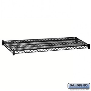 Additional Shelf - for Wire Shelving - 60 Inches Wide - 18 Inches Deep - Black