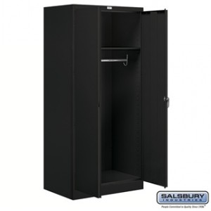 Storage Cabinet - Wardrobe - 78 Inches High - 24 Inches Deep - Black - Assembled