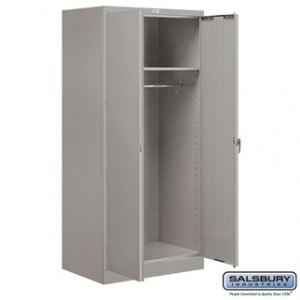 Storage Cabinet - Wardrobe - 78 Inches High - 24 Inches Deep - Gray - Assembled
