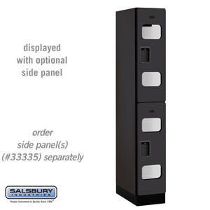 Salsbury Industries See-Through Designer Wood Locker - Double Tier - 1 Wide - 6 Feet High - 21 Inches Deep - Black at Sears.com