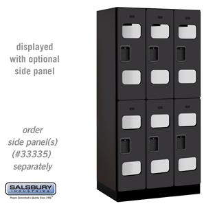 Salsbury Industries See-Through Designer Wood Locker - Double Tier - 3 Wide - 6 Feet High - 21 Inches Deep - Black at Sears.com