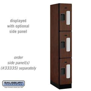 Salsbury Industries See-Through Designer Wood Locker - Triple Tier - 1 Wide - 6 Feet High - 21 Inches Deep - Mahogany at Sears.com