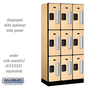 Salsbury Industries See-Through Designer Wood Locker - Triple Tier - 3 Wide - 6 Feet High - 18 Inches Deep - Maple at Sears.com