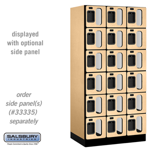 Salsbury Industries See-Through Designer Wood Locker - Six Tier Box Style - 3 Wide - 6 Feet High - 21 Inches Deep - Maple at Sears.com