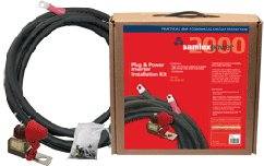 2000W Inverter Install Kit: .Kit Contains: (1) Fuse Assembly (DC-FA-200), (1) 10 Ft AWGA# 2 DLO Postive Cable, (1) 10 Ft AWG# 2