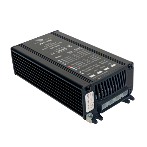 Switching DC-DC Converter.Input: 60-120 VDC, Output: 12 VDC, 16 Amps.RoHS Compliant