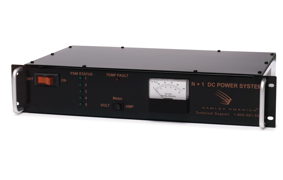 DC Switching Power Supply.Input: 120 VAC, Output: 13.8 VDC, 80 Amps