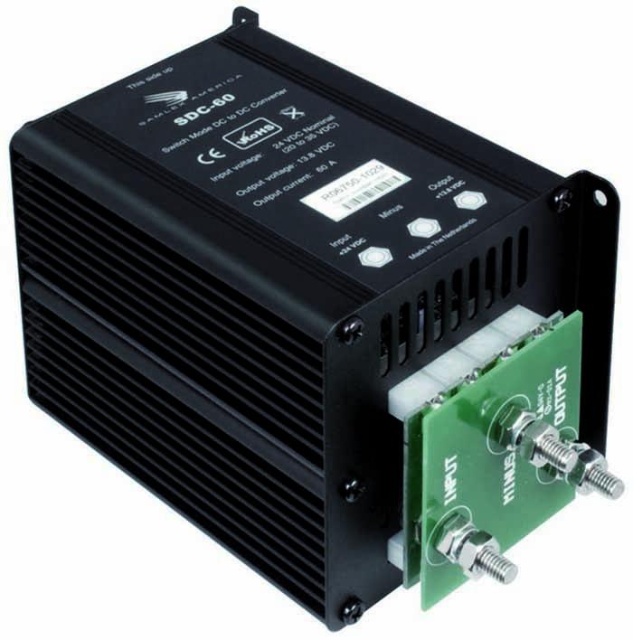 20-35 VDC INPUT, 13.8 VDC OUTPUT, 60 AMP CONVERTER